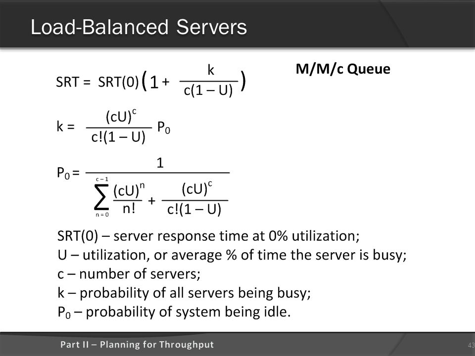 Load-Balanced Servers 43