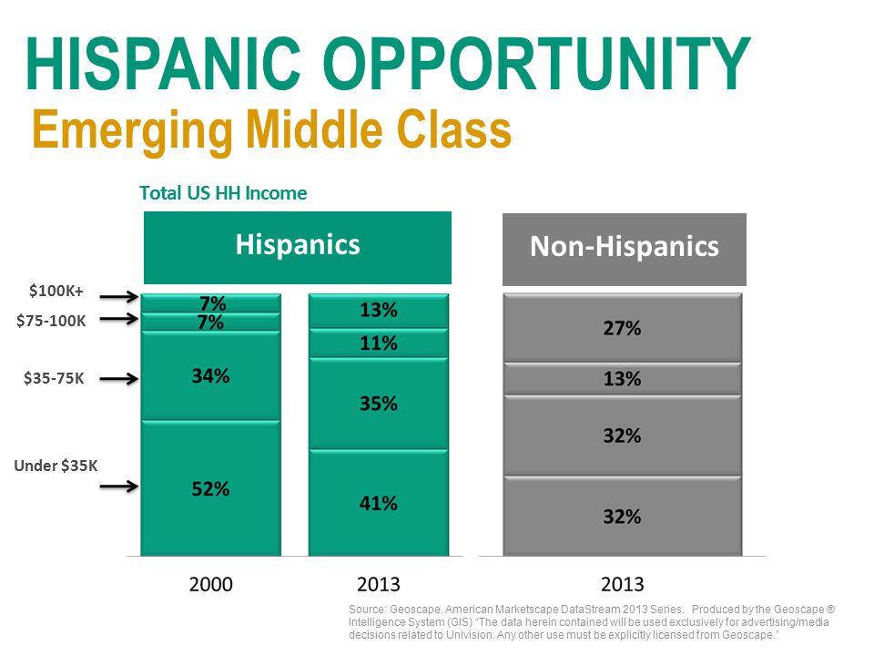 Source: Geoscape. American Marketscape DataStream 2013 Series.