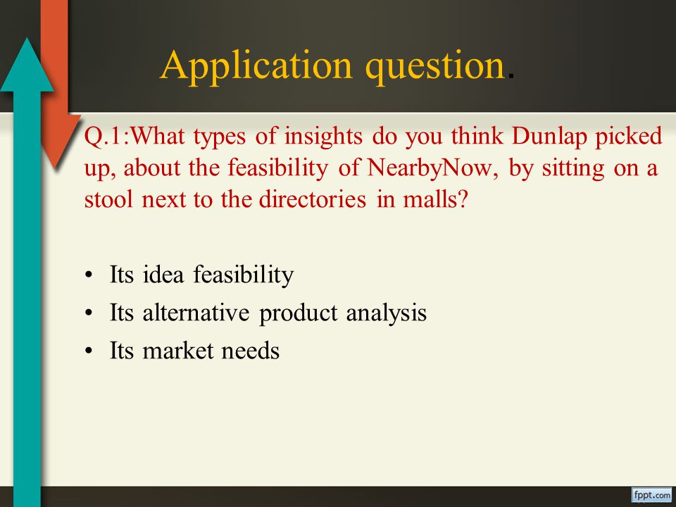 Application question.