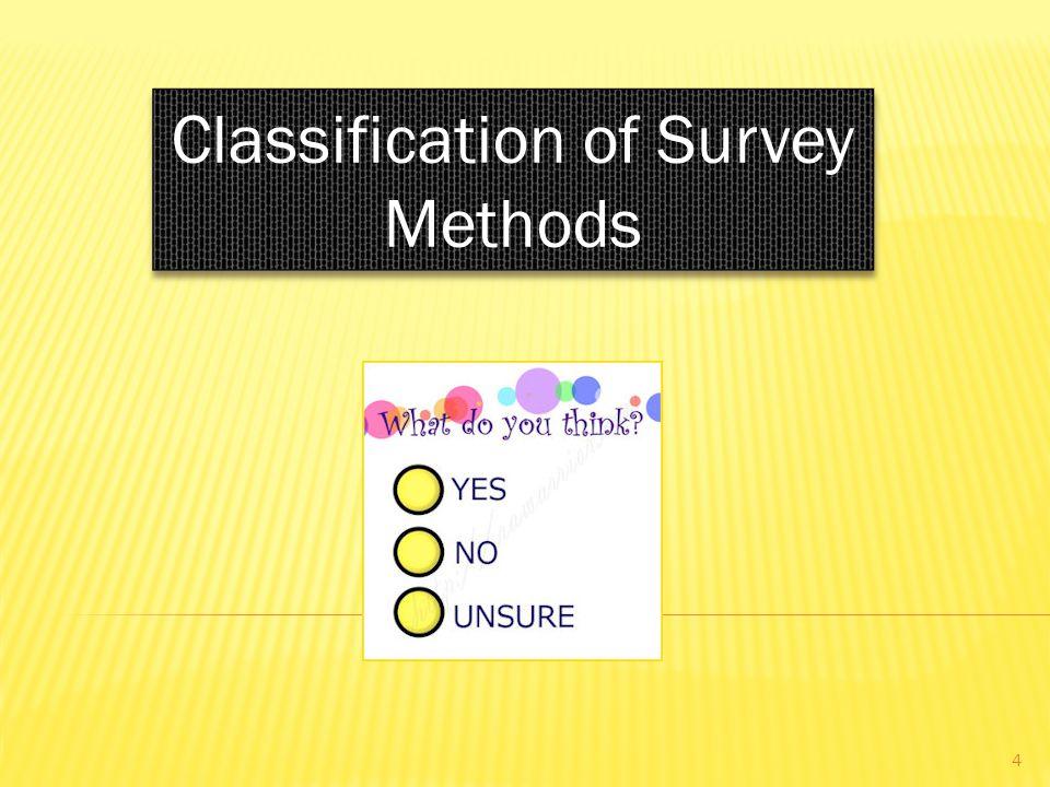 Classification of Survey Methods 4