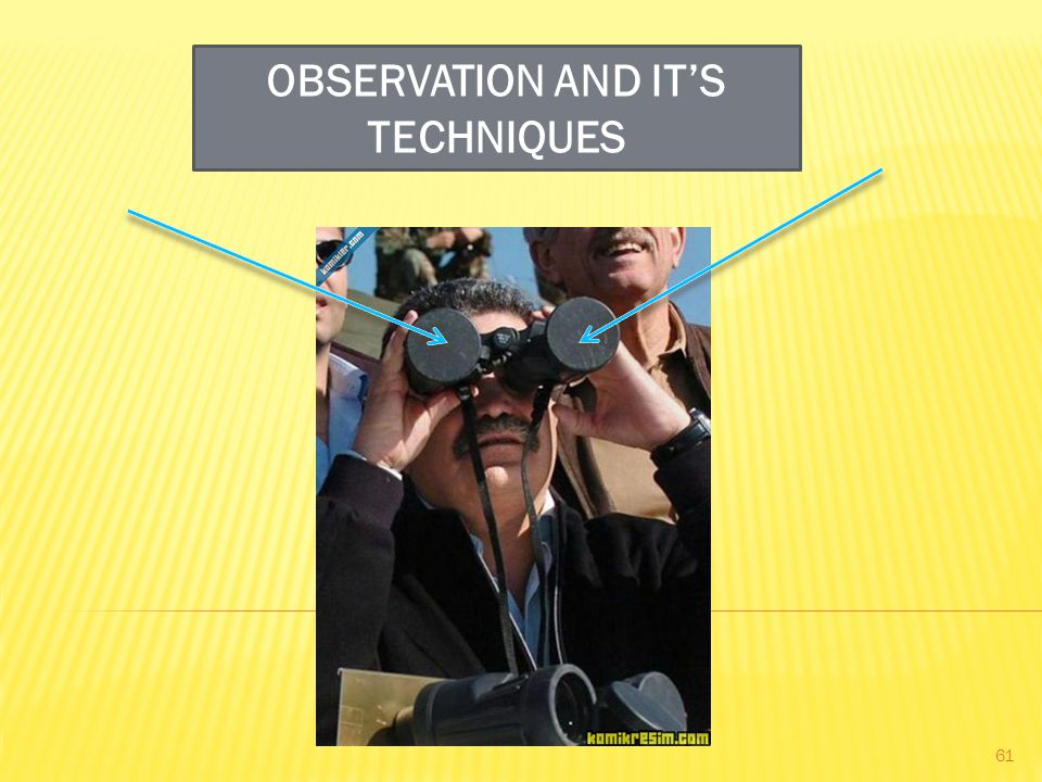 OBSERVATION AND IT'S TECHNIQUES 61
