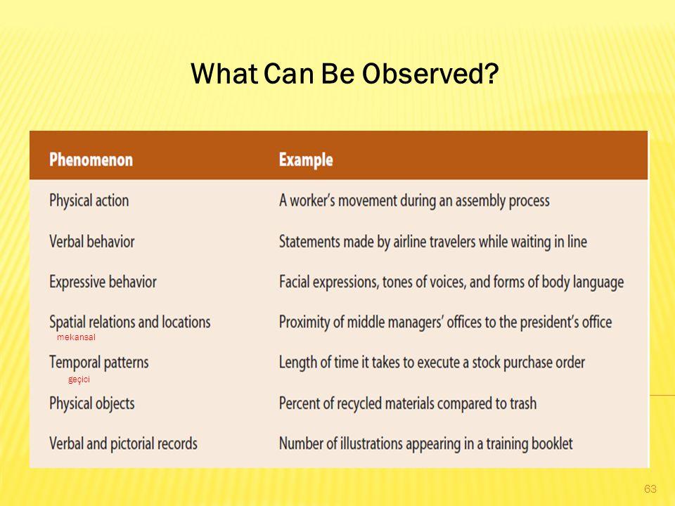 What Can Be Observed? mekansal geçici 63