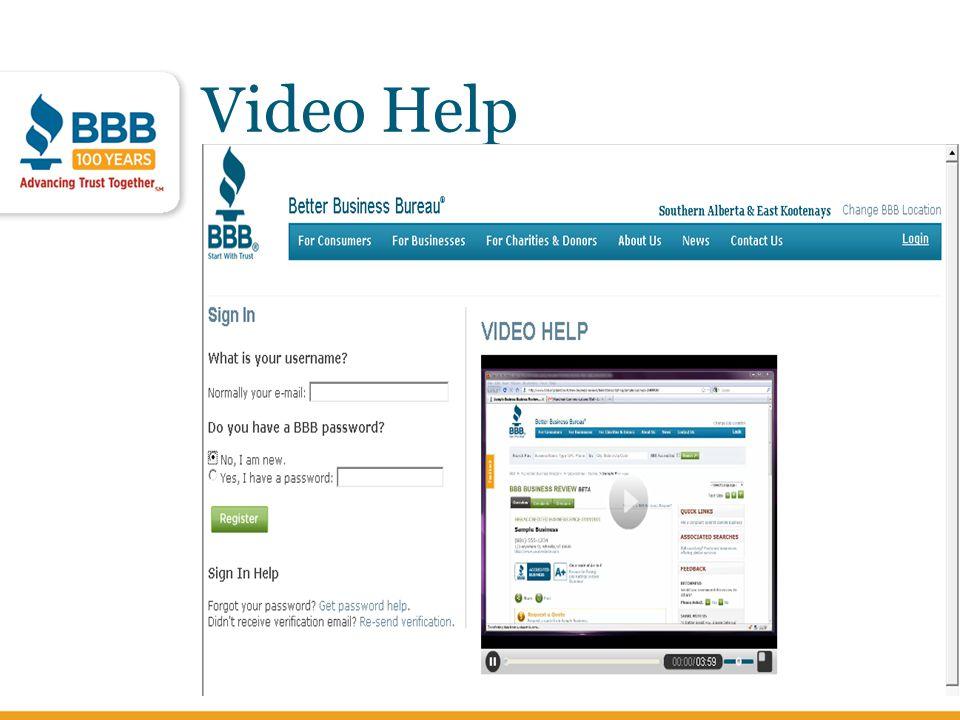 Video Help