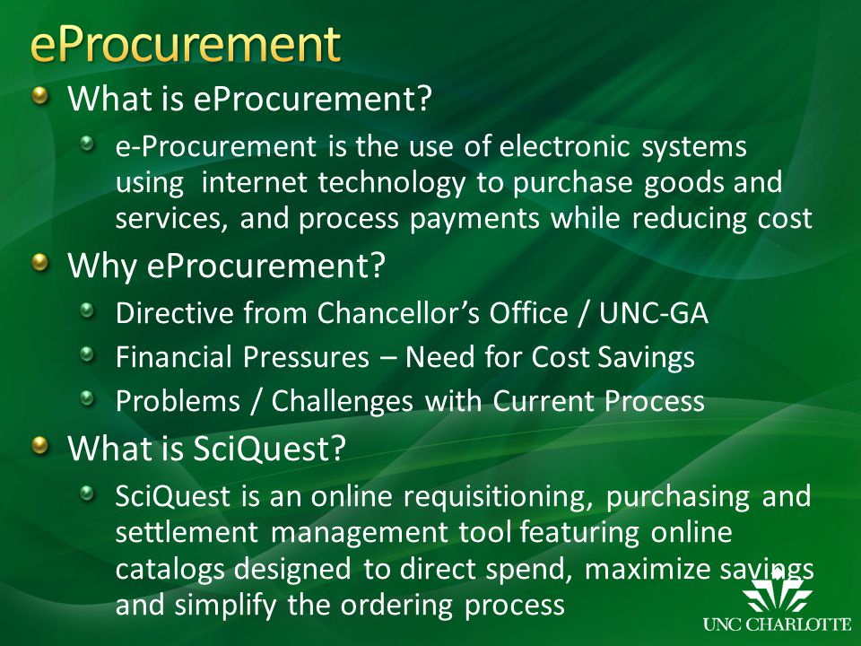 What is eProcurement.