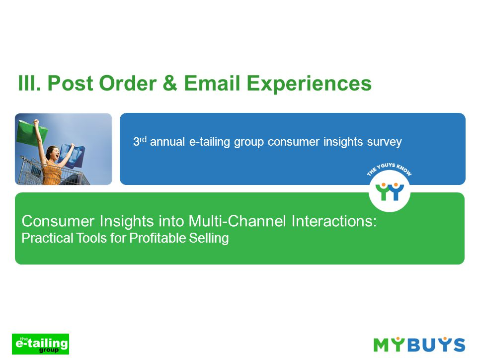 Consumer Insights into Multi-Channel Interactions: Practical Tools for Profitable Selling III.