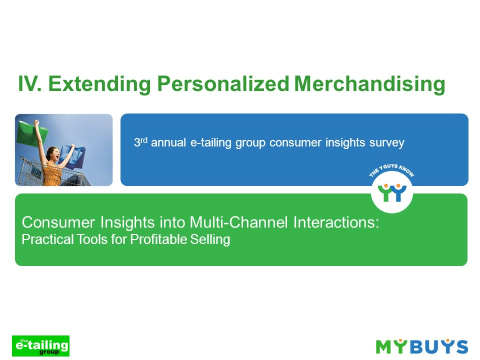 Consumer Insights into Multi-Channel Interactions: Practical Tools for Profitable Selling IV.