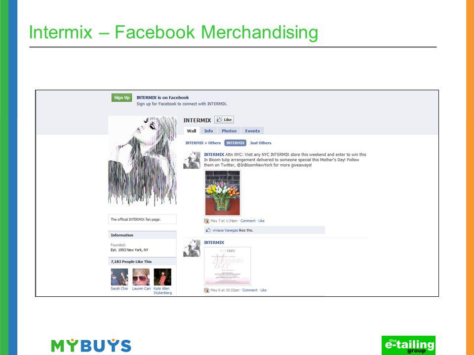 Intermix – Facebook Merchandising
