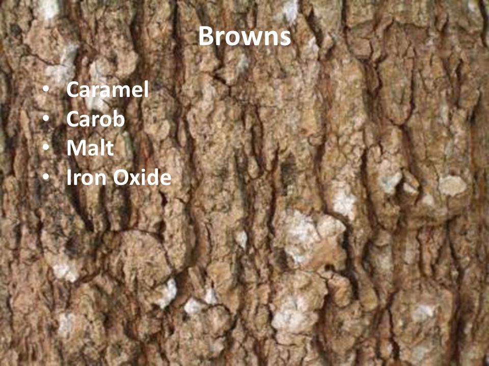 Browns Caramel Carob Malt Iron Oxide
