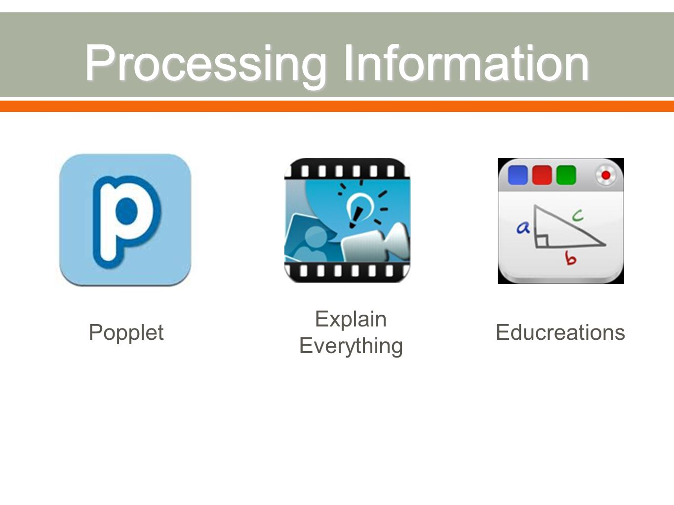 Popplet Explain Everything Educreations
