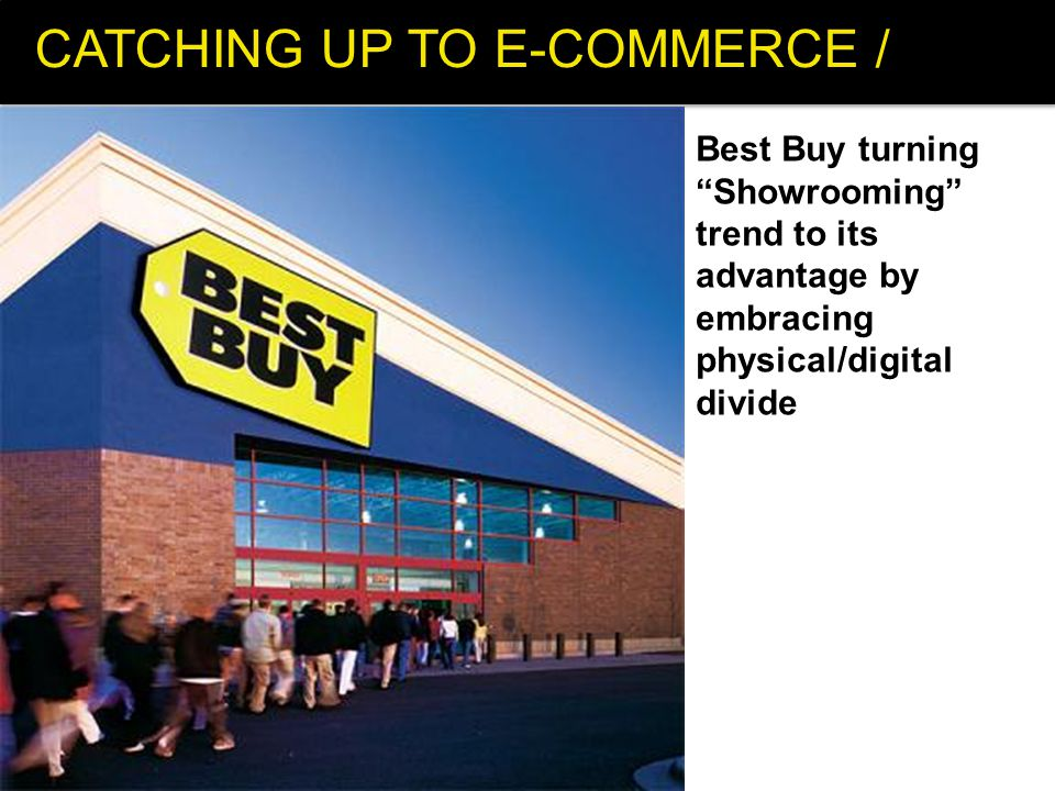 CATCHING UP TO E-COMMERCE / Best Buy turning Showrooming trend to its advantage by embracing physical/digital divide
