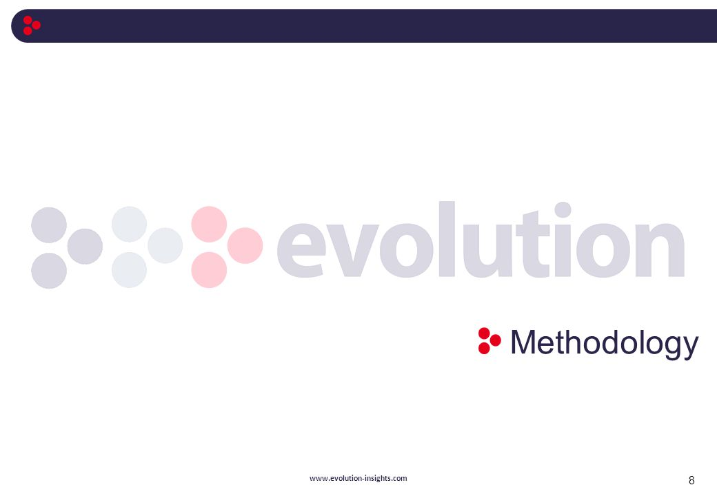 Methodology 8 www.evolution-insights.com