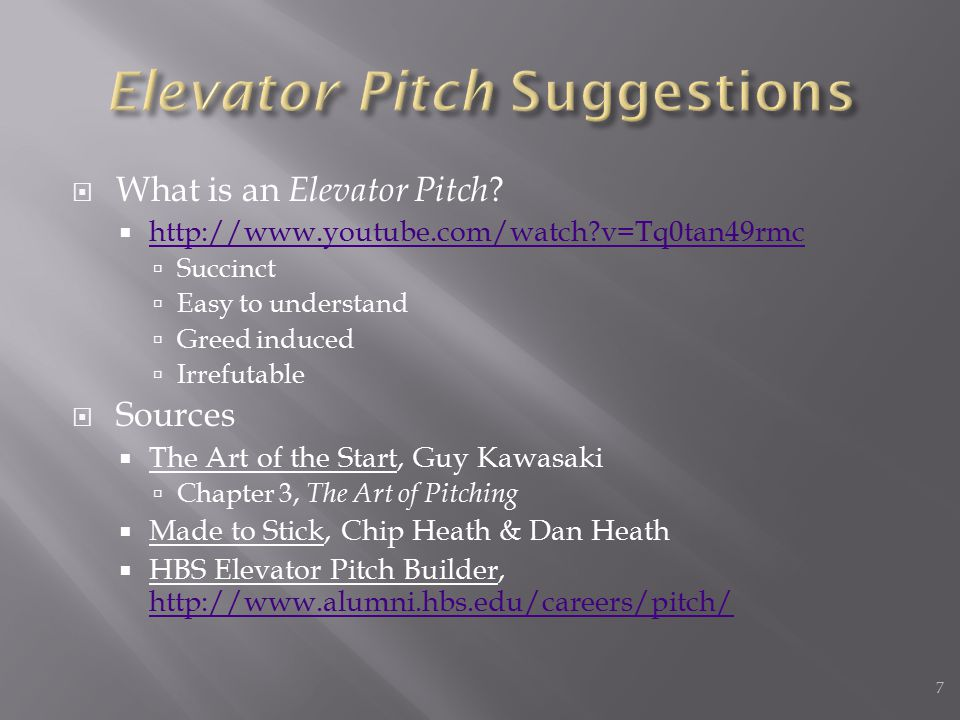  What is an Elevator Pitch .
