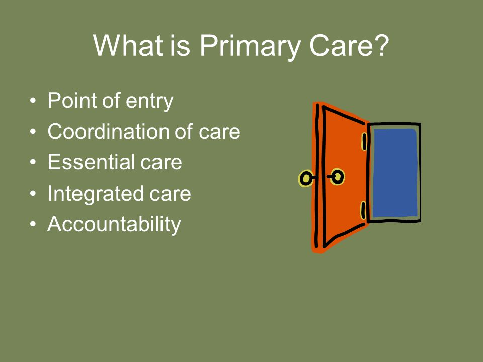 What is Primary Care.