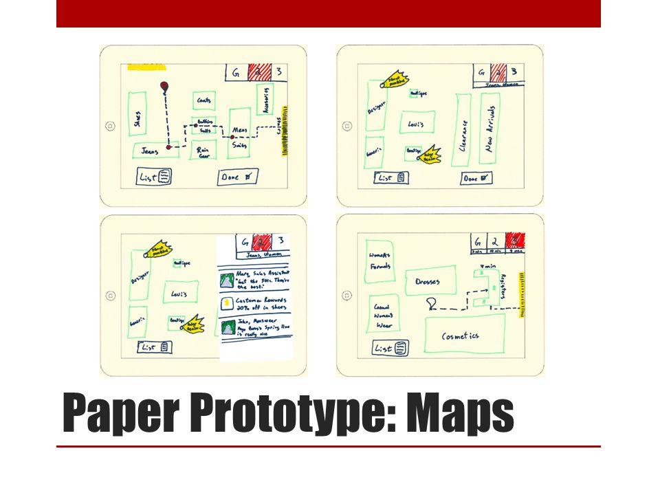 Paper Prototype: Maps