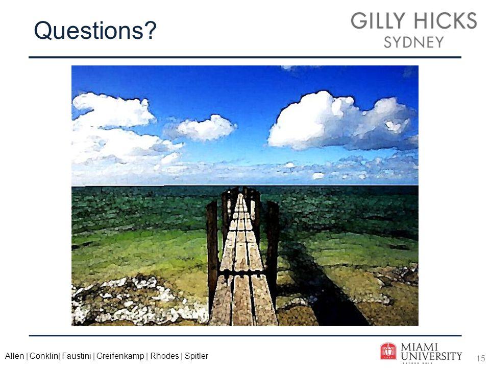 15 Allen | Conklin| Faustini | Greifenkamp | Rhodes | Spitler Questions