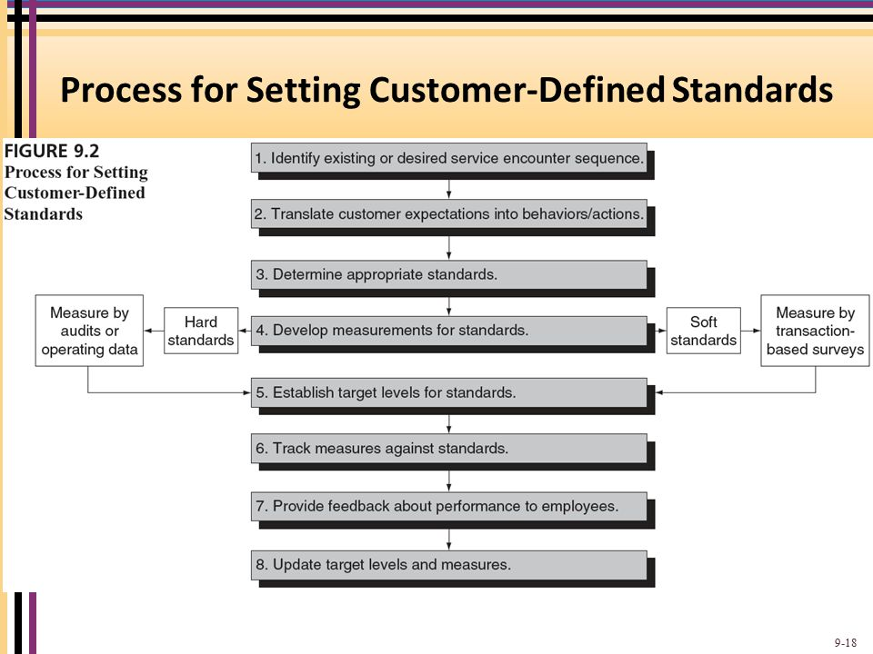 Process for Setting Customer-Defined Standards 9-18