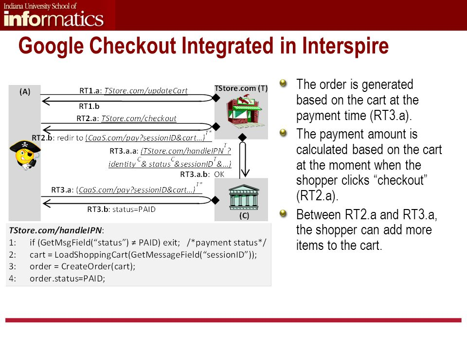 The order is generated based on the cart at the payment time (RT3.a).