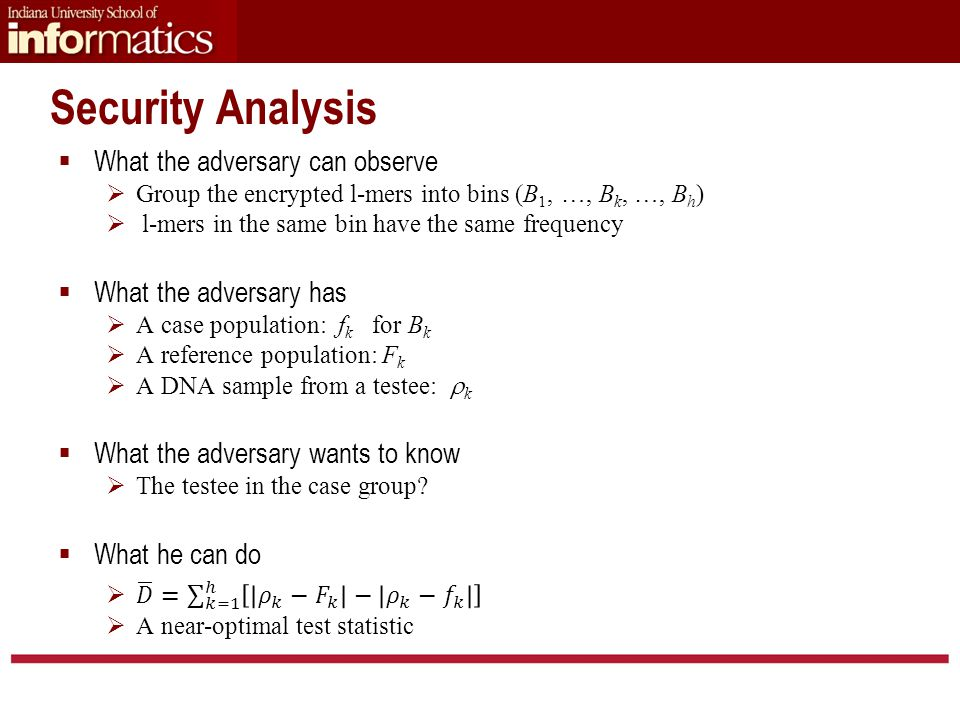 Security Analysis
