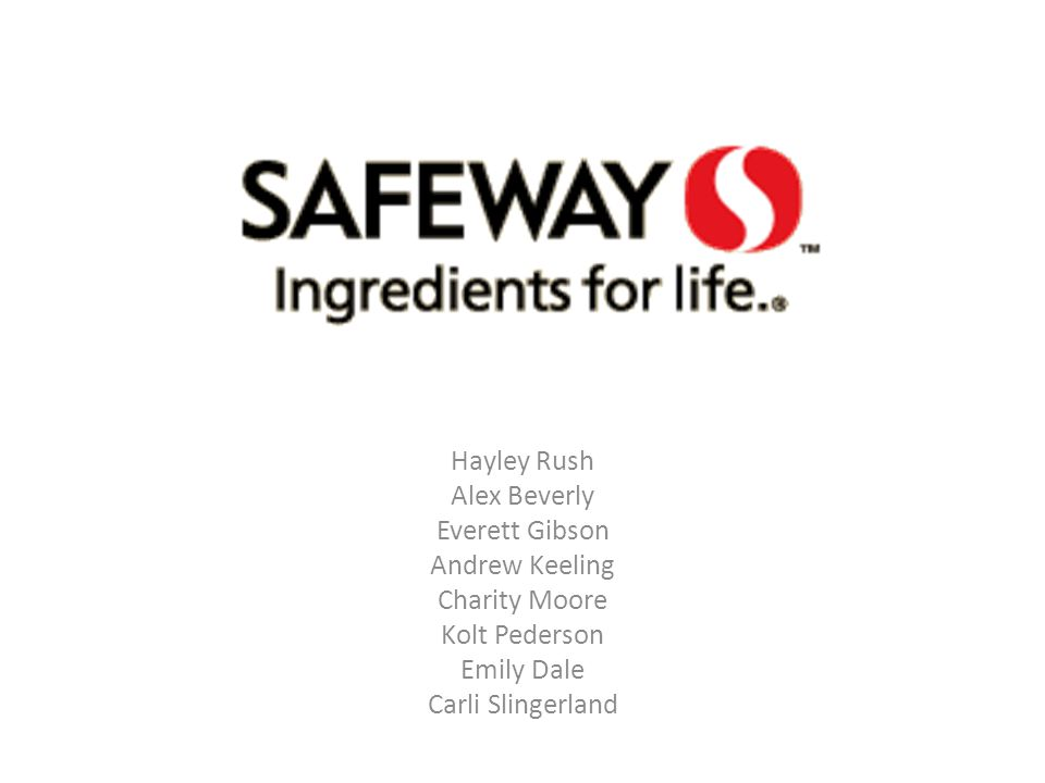 Safeway created new concept stores – The Market – 15,000 square feet – 15% of the stock Trademark & Patent ownership – Over 400 Kroger – Remodeling stores all over the country Competitive Advantage: Investment in R&D