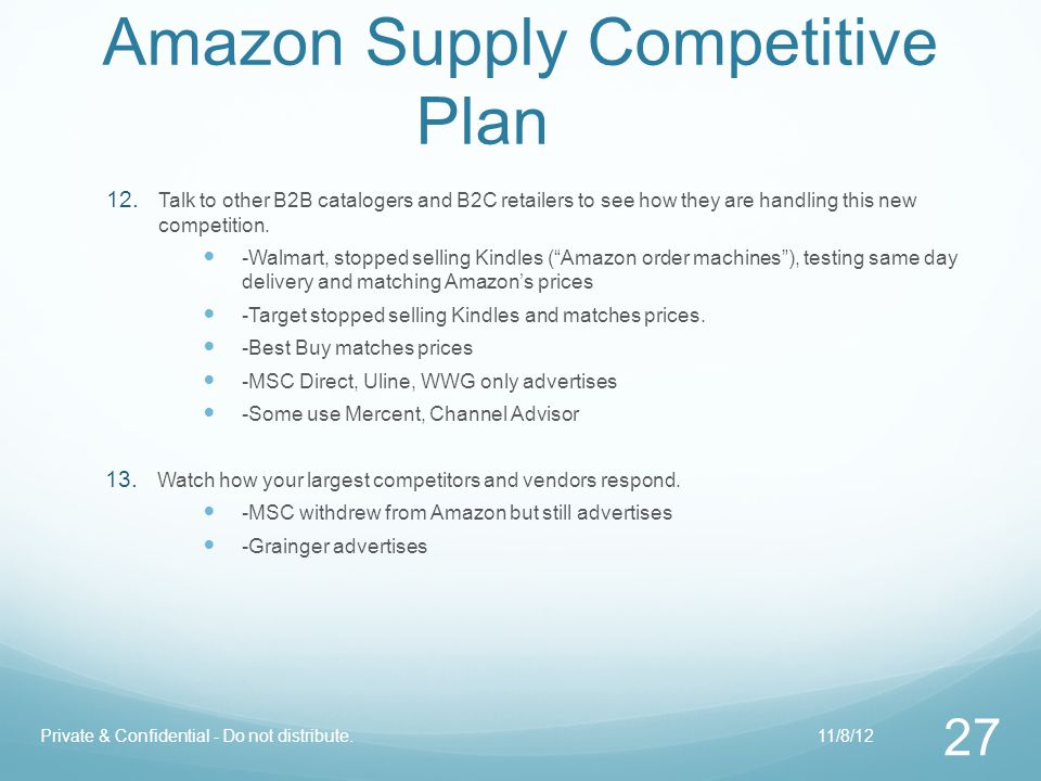 Amazon Supply Competitive Plan 12.