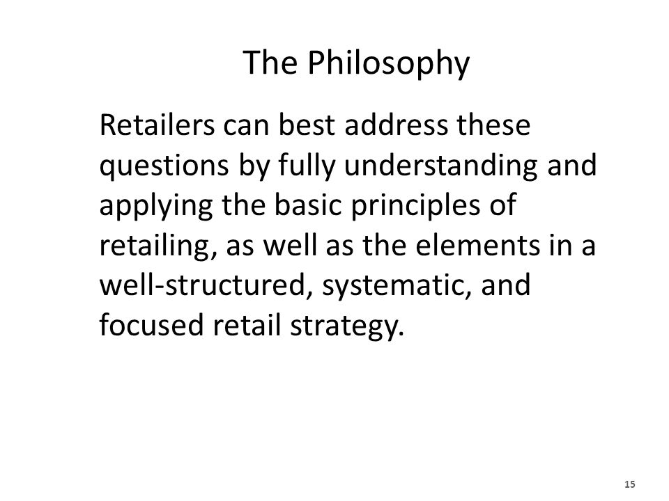 Issues in Retailing How can we best serve our customers while earning a fair profit? How can we stand out in a highly competitive environment where co