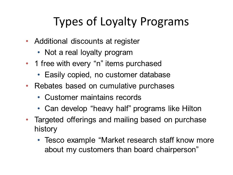 """Effective Relationship Retailing Use a """"win-win"""" approach It is easier to keep existing customers happy than to gain new ones (present value of curren"""