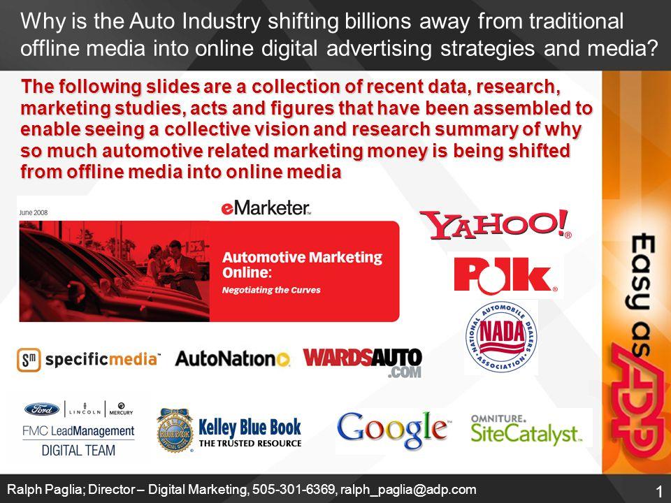 2 Ralph Paglia; Director – Digital Marketing, 505-301-6369, ralph_paglia@adp.com Who are the Biggest Advertising Spenders?