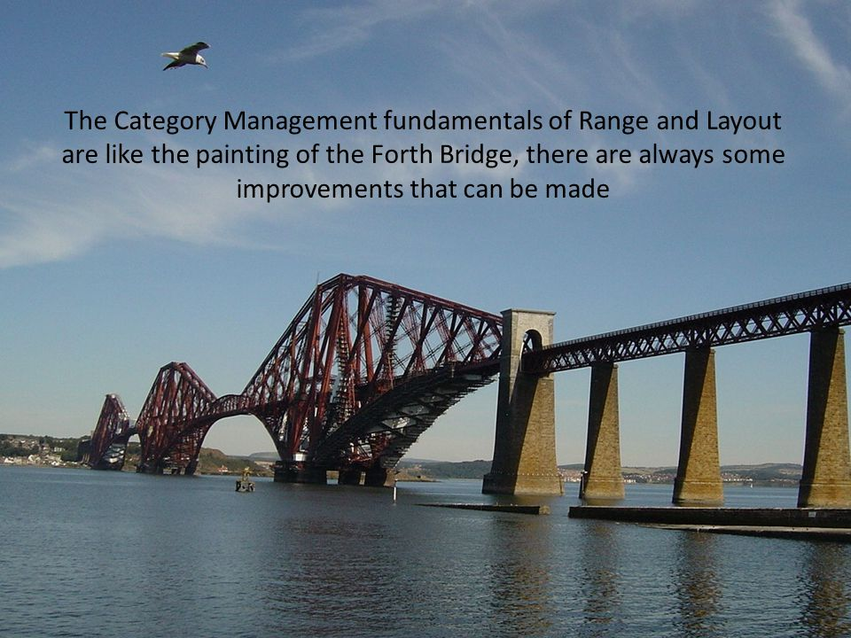 The Category Management fundamentals of Range and Layout are like the painting of the Forth Bridge, there are always some improvements that can be mad
