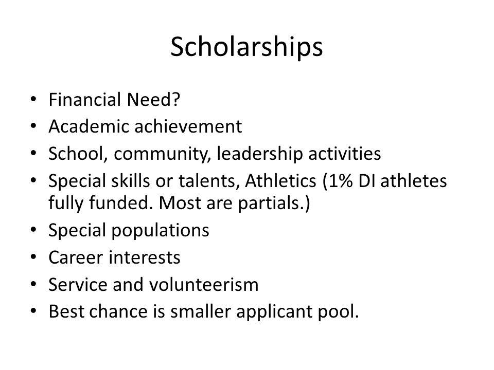 Scholarships Financial Need.