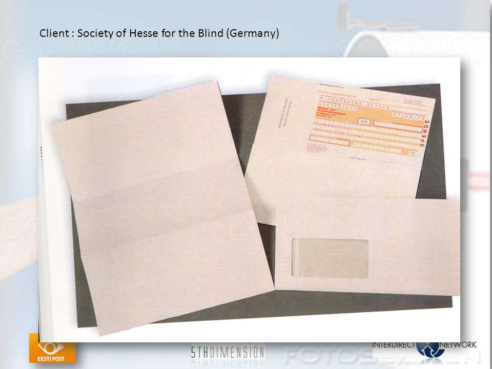 Client : Society of Hesse for the Blind (Germany)