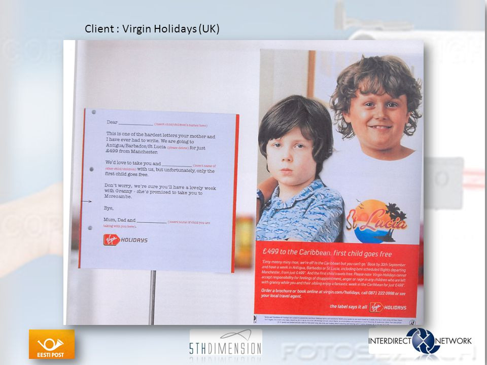Client : Virgin Holidays (UK)