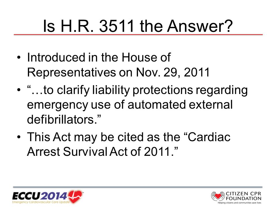 Is H.R. 3511 the Answer. Introduced in the House of Representatives on Nov.