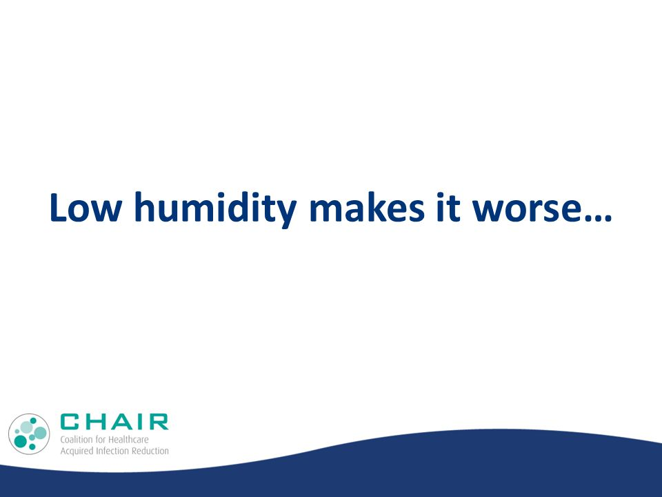 Low humidity makes it worse…