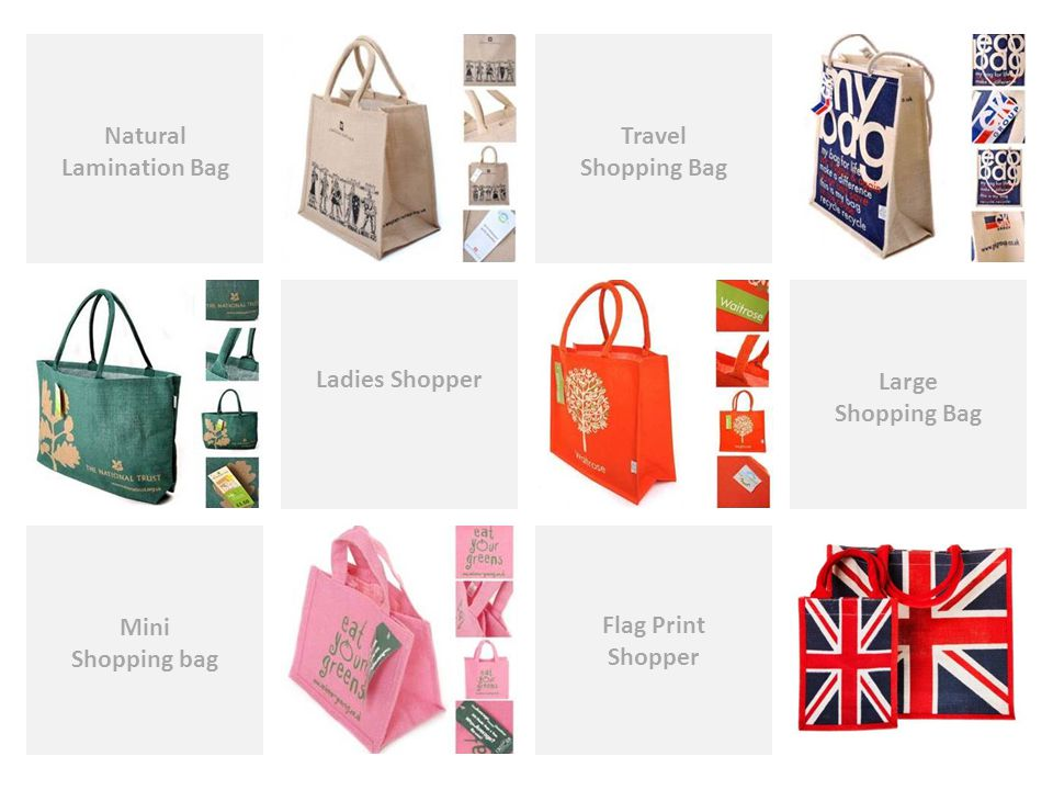 Flag Print Shopper Travel Shopping Bag Natural Lamination Bag Ladies Shopper Large Shopping Bag Mini Shopping bag