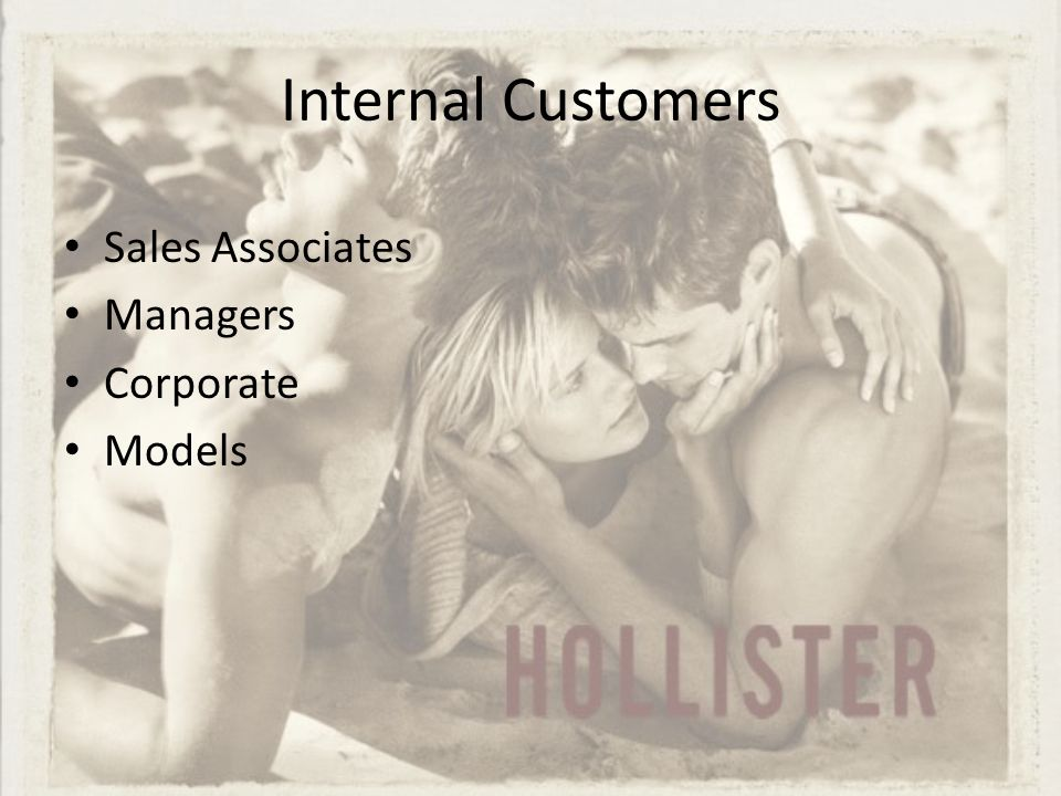 External Customers All of us… Online Shoppers Mall Goers