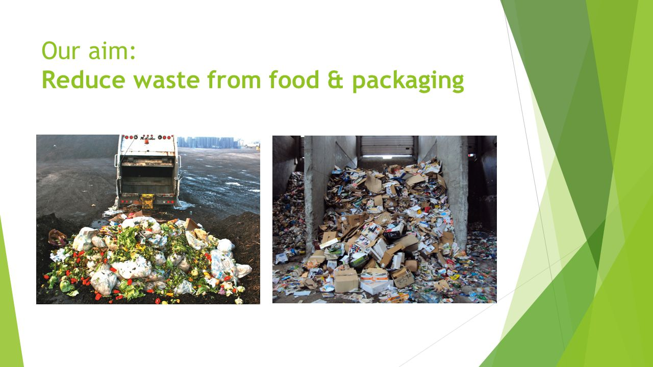 Our aim: Reduce waste from food & packaging