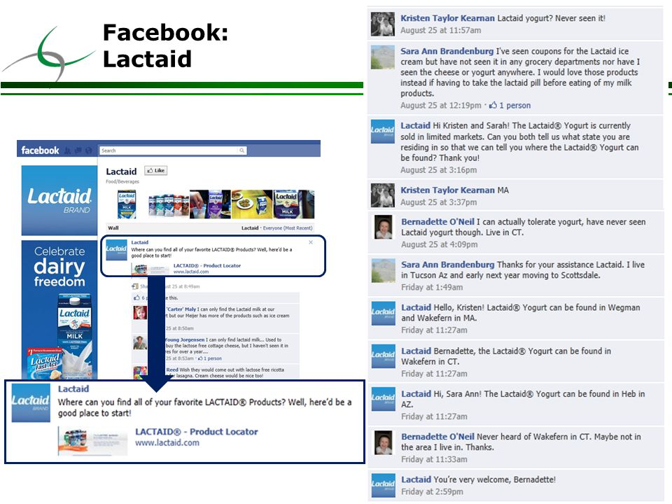 17 Facebook: Lactaid