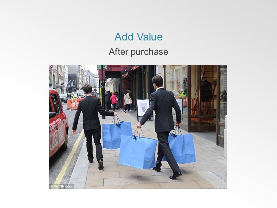 Add Value After purchase