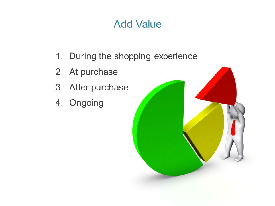 Add Value During the shopping experience