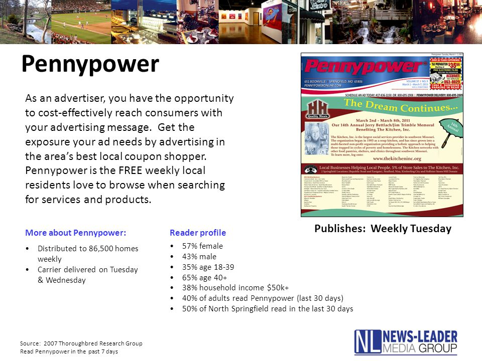 Pennypower More about Pennypower:Reader profile As an advertiser, you have the opportunity to cost-effectively reach consumers with your advertising m