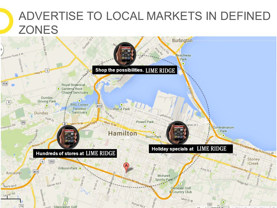 ADVERTISE TO LOCAL MARKETS IN DEFINED ZONES Shop the possibilities. Holiday specials at Hundreds of stores at