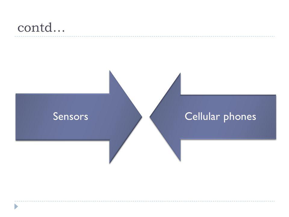 contd… Sensors Cellular phones
