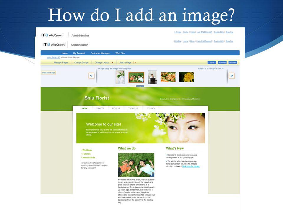 How do I add an image 32