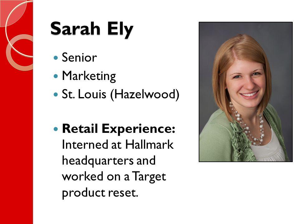 Sarah Ely Senior Marketing St.