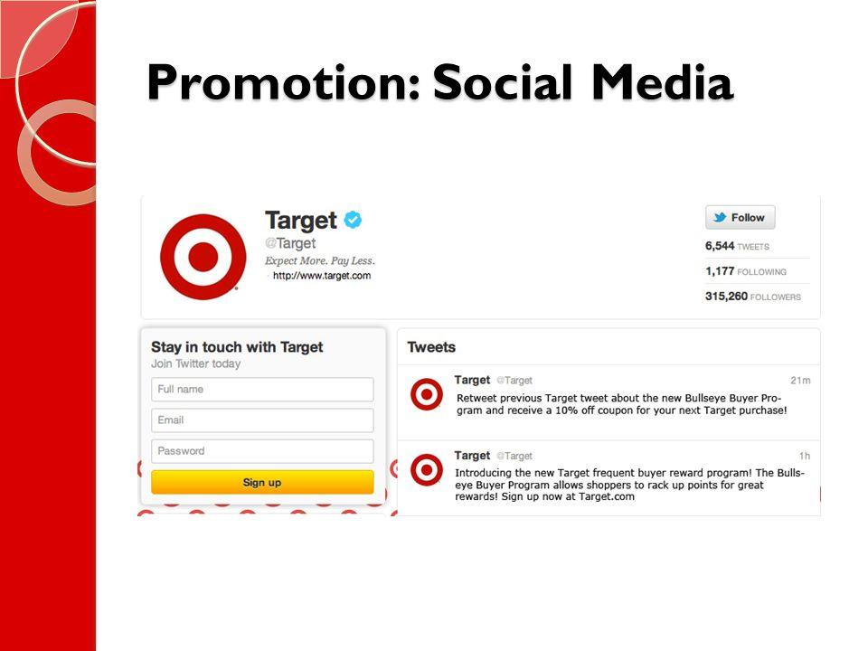 Promotion: Social Media