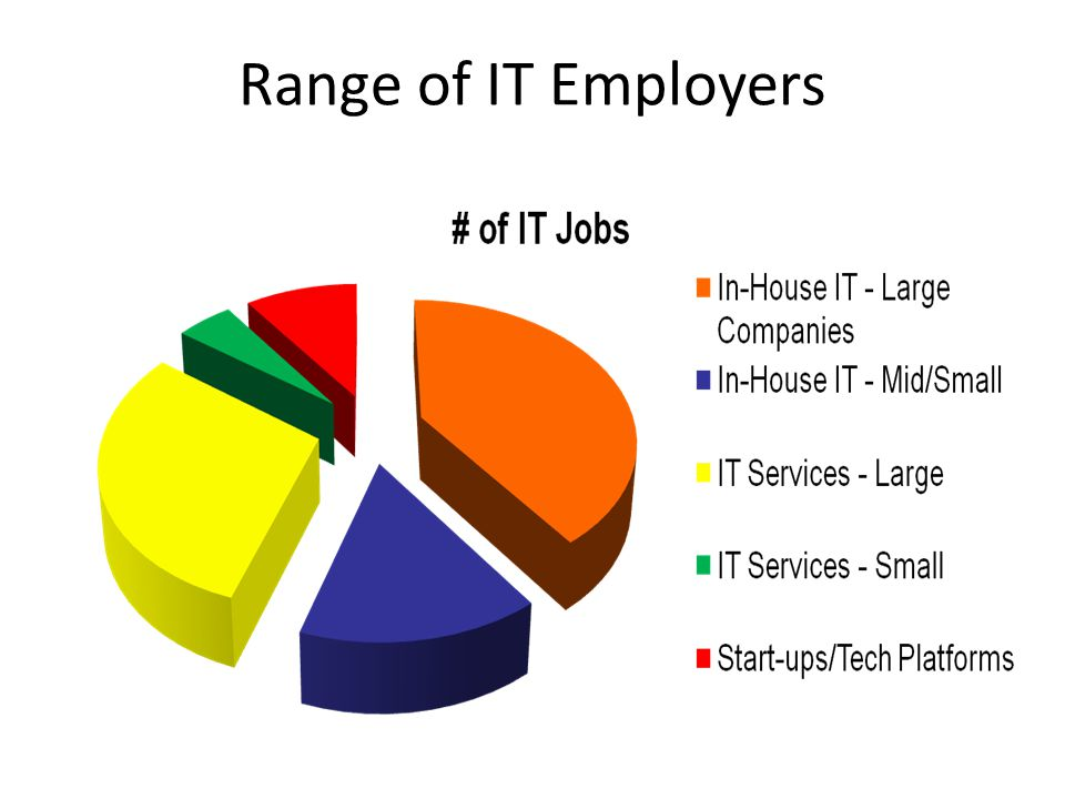 Range of IT Employers