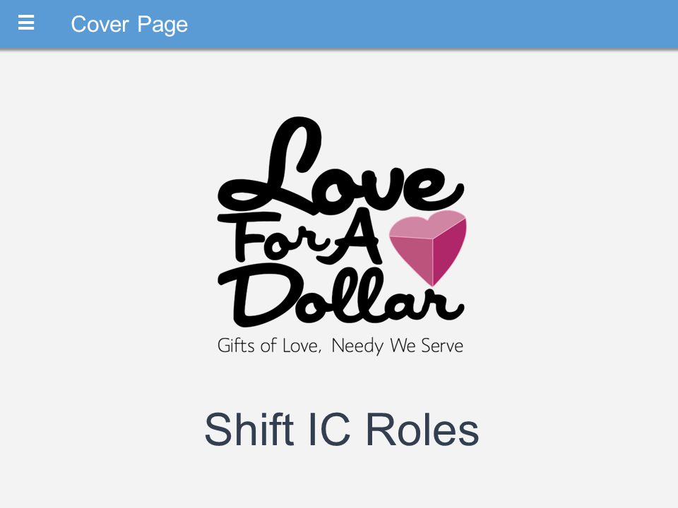 M Cover Page Shift IC Roles