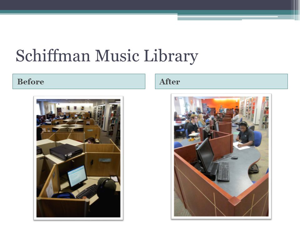 Schiffman Music Library BeforeAfter