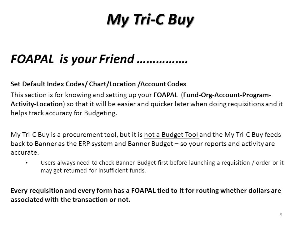 My Tri-C Buy FOAPAL is your Friend …………….