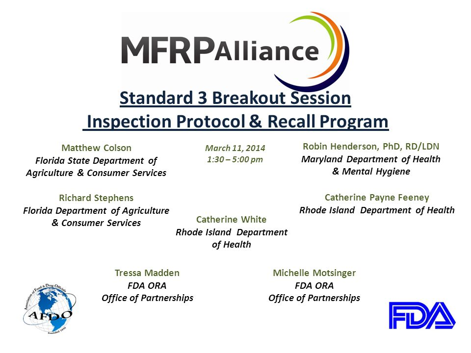 Sharing Information Conveyed in our Bureau's Communication Plan Will notify appropriate state and federal agencies Instruct firm to submit RFR
